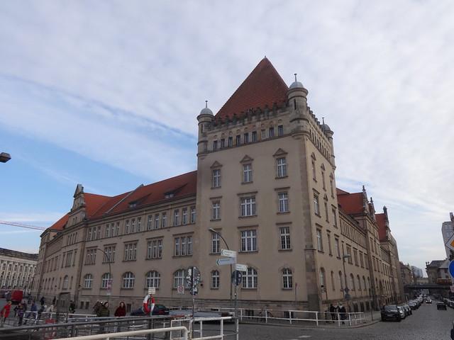 1898/19012 Berlin Kaserne Kaiser-Alexander-Garde-Grenadier-Regiment in Neorenaissance von Wieczoreck/Julius Boethke Geschwister-Scholl-Straße 2-8/Am Kupfergraben in 10117 Mitte