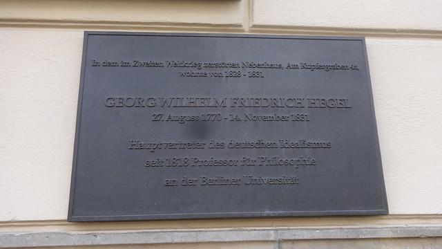 2005 Berlin Philosoph Georg Wilhelm Friedrich Hegel (1770-1831) wohnhaft 1828-1831 Am Kupfergraben 5 in 10117 Mitte