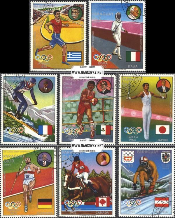 Známky Paraguaj 1977 Medailisti z OH, razítkovaná séria