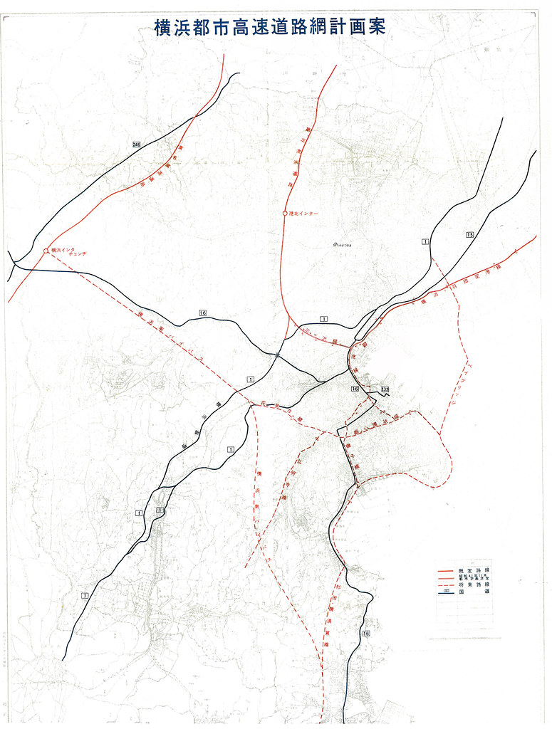 横浜都市高速道路網計画案 (2)