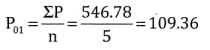 2nd PUC Statistics Question Bank Chapter 2 Index Number - 32