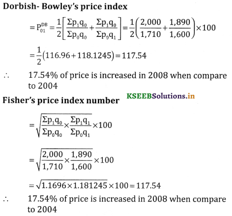 2nd PUC Statistics Question Bank Chapter 2 Index Number - 37