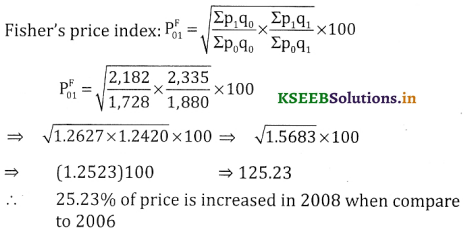 2nd PUC Statistics Question Bank Chapter 2 Index Number - 43