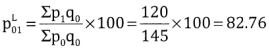 2nd PUC Statistics Question Bank Chapter 2 Index Number - 62