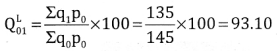 2nd PUC Statistics Question Bank Chapter 2 Index Number - 64