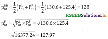 2nd PUC Statistics Question Bank Chapter 2 Index Number - 68
