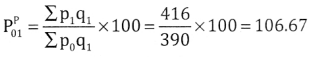 2nd PUC Statistics Question Bank Chapter 2 Index Number - 125