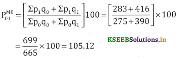 2nd PUC Statistics Question Bank Chapter 2 Index Number - 126