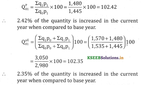 2nd PUC Statistics Question Bank Chapter 2 Index Number - 136