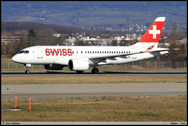 AIRBUS A220 100 SWISS HB-JBI 50018 Geneve février 2020