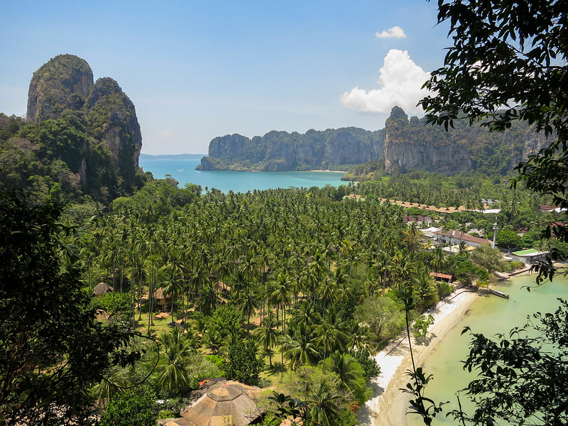 Reaching the Railay viewpoint
