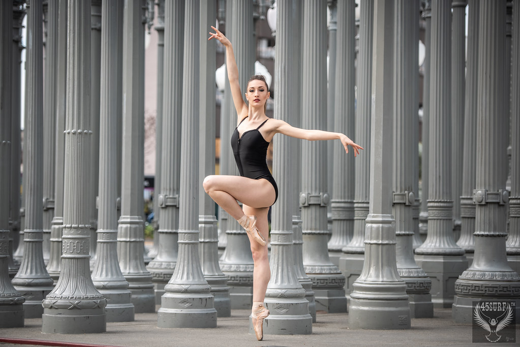 Beautiful Ballerina Dancer Venus Goddess Dancing Ballet! Dr. Elliot McGucken Fine Art Ballet Photography LACMA Urban Lights & Levitated Mass! Los Angeles Pretty Ballerina Model Goddesses Black & White Leotards! Nikon D810! 45SURF 45EPIC Hero's Odyssey