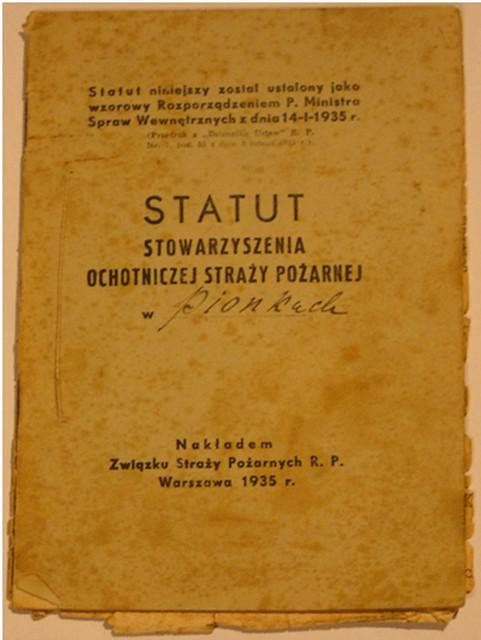 Statut_OSP_Pionki_z_1935r