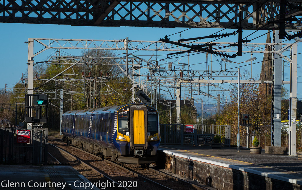 Scotrail 380003 arrives at Paisley Gilmour Street by Glenn Courtney