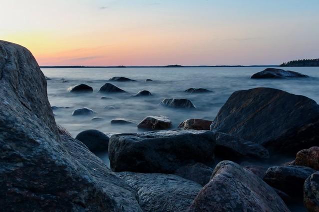 Rocks and sunset