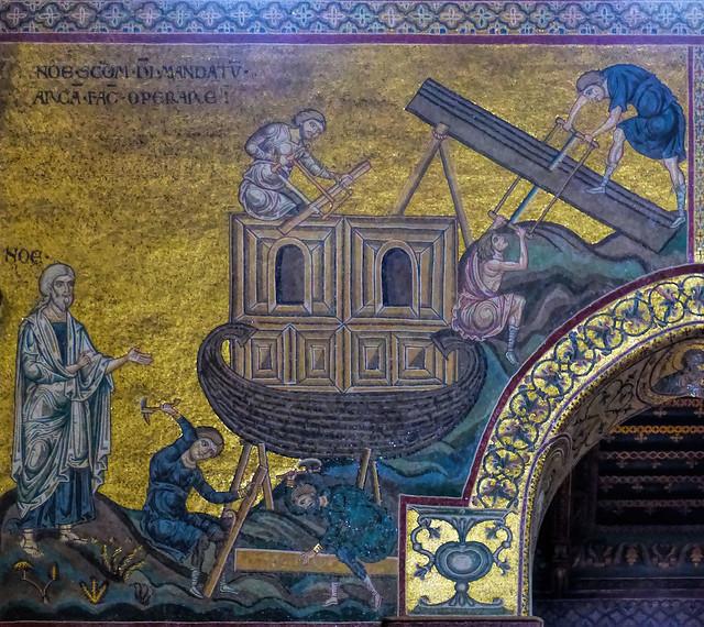 Thu, 09/15/2016 - 14:24 - Noah Building the Arc - Monreale Palermo Sicily 15/09/2016