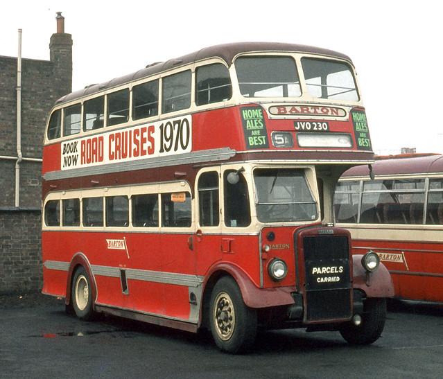 Barton Transport , 507 JVO230 . Long Eaton garage yard . Sunday morning 29th-March-1970 .