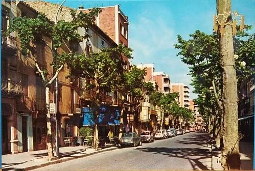 Igualada passeig de sant Isidre 1967