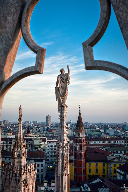 Milan - View from the roof of the Cathedral