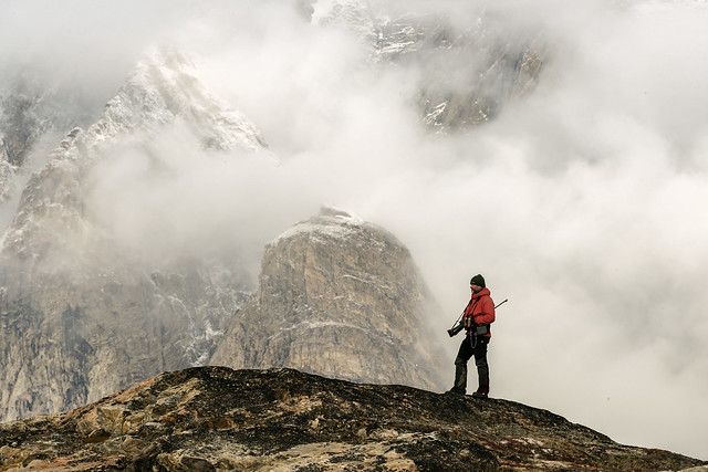 On guard with misty mountains