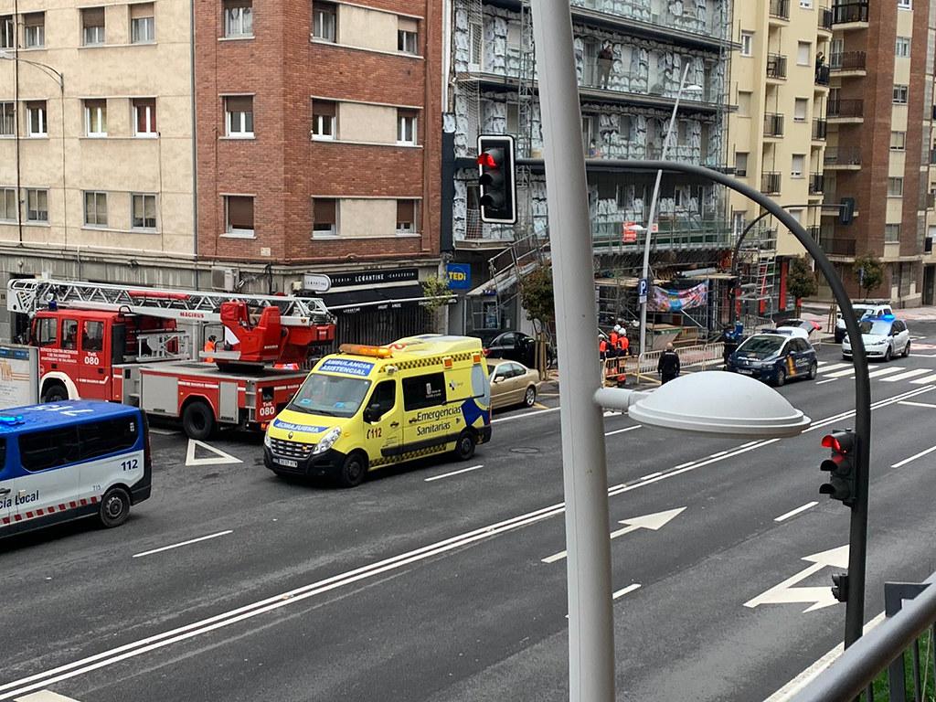 Accidente en el Paseo de Canalejas, Salamanca.  (5)