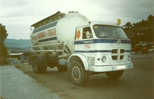 Pegaso Europa 1065 de Transports TRO en el desballestament de La Pobla de Claramunt 1993