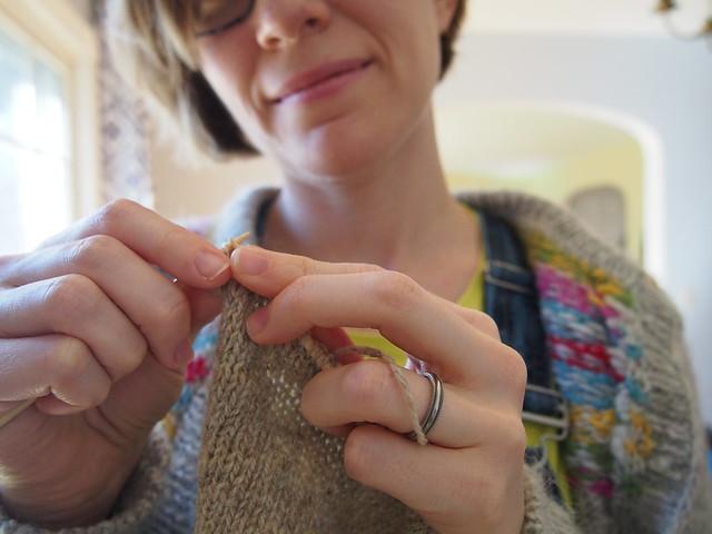 knitting to stay sane
