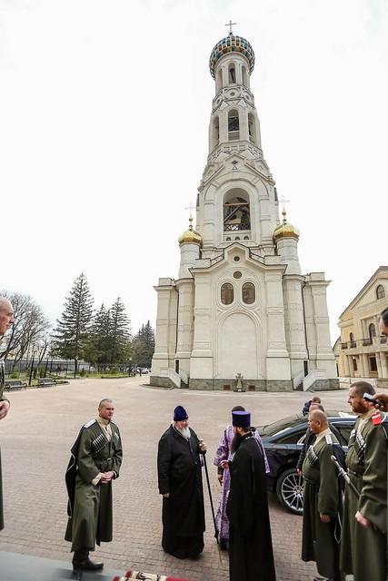 21 марта 2020, Митрополит Кирилл совершил всенощное бдение в канун Недели Крестопоклонной