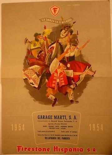 portada calendari Firestone Garatge Martí concessionari Pegaso 1954