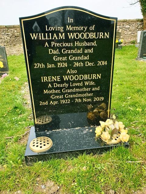 William & Irene Woodburn's Headstone