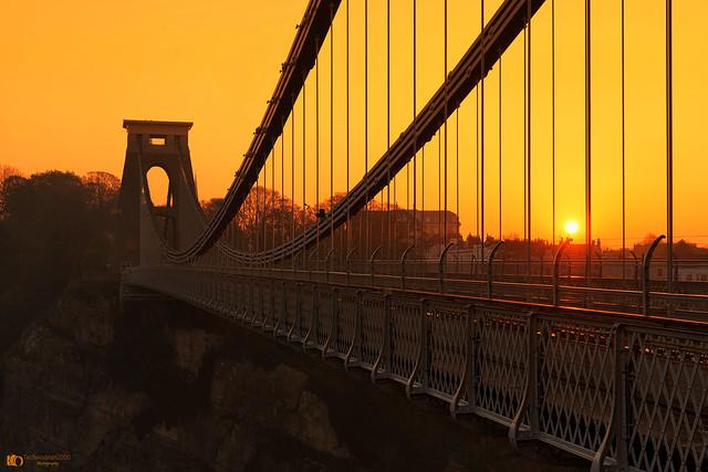 Sunrise at Clifton suspension bridge