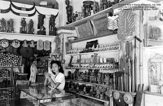 Souvenir shop in Manila, Philippines, July 1946