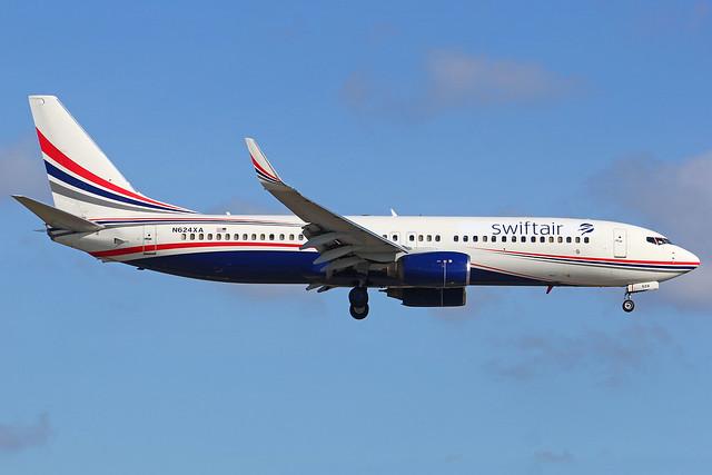 [MIA] N624XA B737-800W Swift Air (hybrid Xtra Airways)