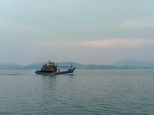 Heading for dock at Sungai Pinang Kecil