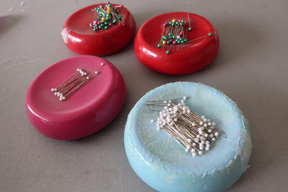 Magnetic pincushions
