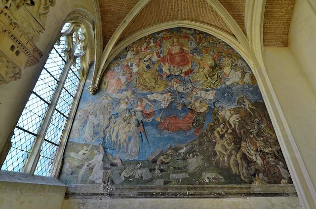 Châteaudun (Eure-et-Loir) - Le château - Sainte-Chapelle - Fresque du Jugement Dernier