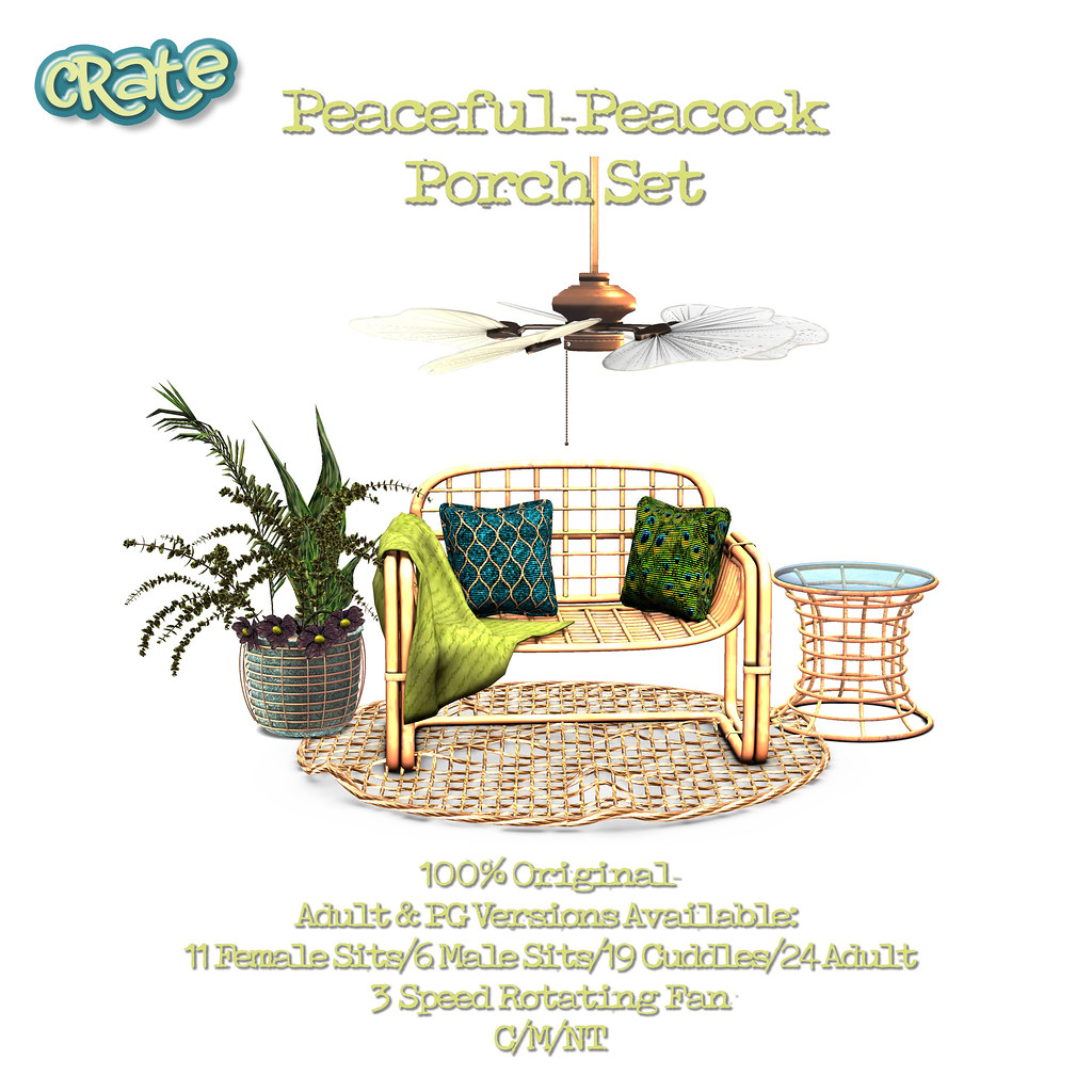 crate Peaceful-Peacock Porch Set for Bloom
