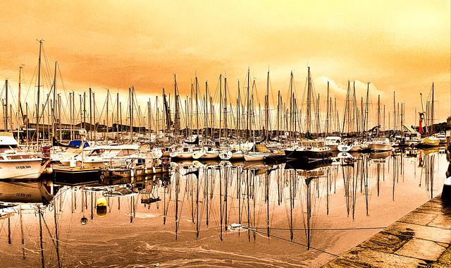 Le port de plaisance de Saint-Malo.