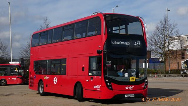 P1010283 2013 YX20 OBU at Hatton Cross Station Bus Station Hatton Cross London