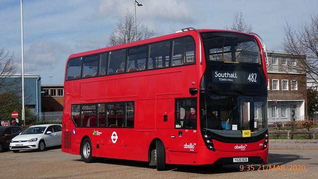 P1010292 2019 YX20 OCB at Hatton Cross Station Bus Station Hatton Cross London