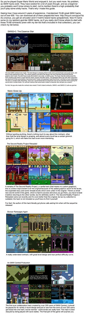 Recommended Super Mario World ROM Hacks.