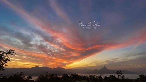 lonavala stunning serene beautiful wideangle landscape iphone11pro iphoneography photography travel india maharashtra pune tikona colours clouds sky sunset outdoors nature