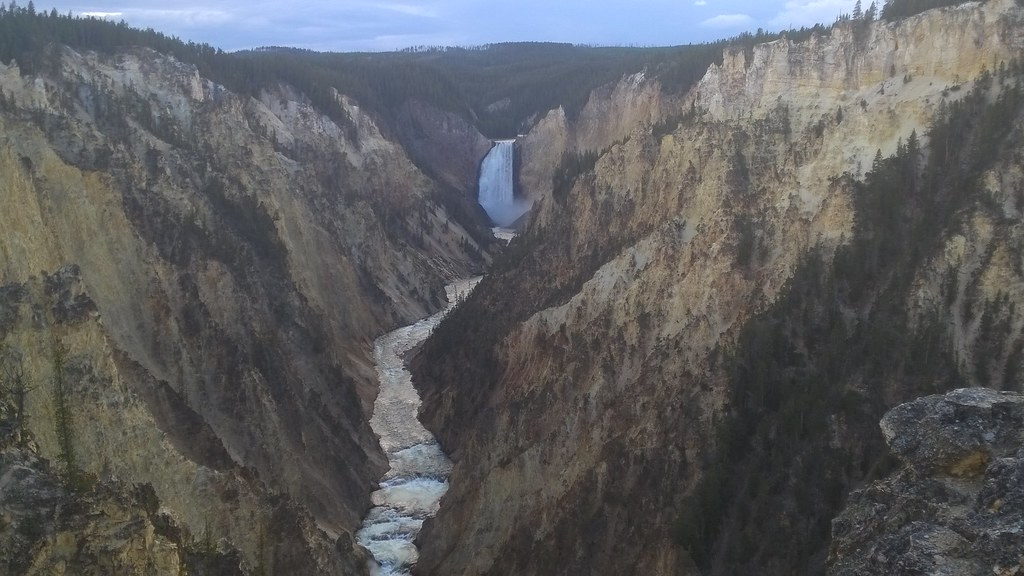 Grand Canyon of the Yellowstone from Artist Point, Yellowstone National Park  8/14/2015