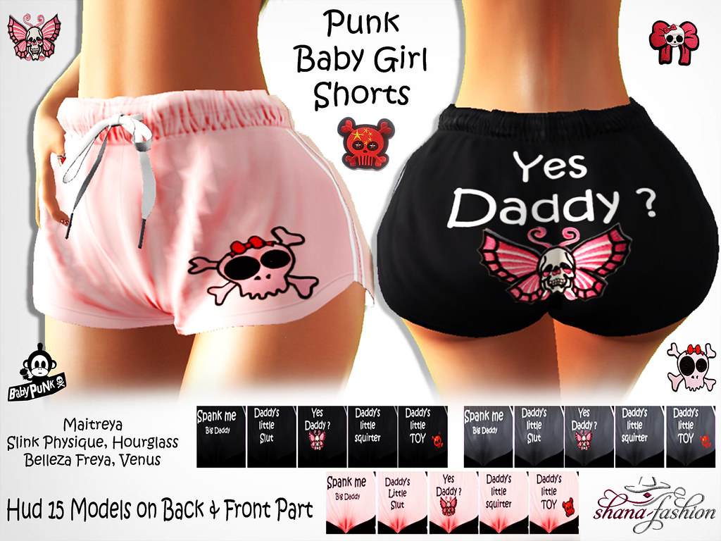 Punk Baby Girl Shorts