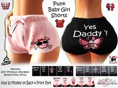 Punk Baby Girl Shorts