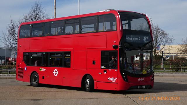 P1010409 2021 YX20 OCD at Hatton Cross Station Bus Station Hatton Cross London