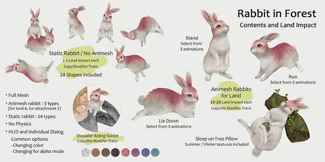 HPMD* Rabbit in Forest - Contents and Land Impact