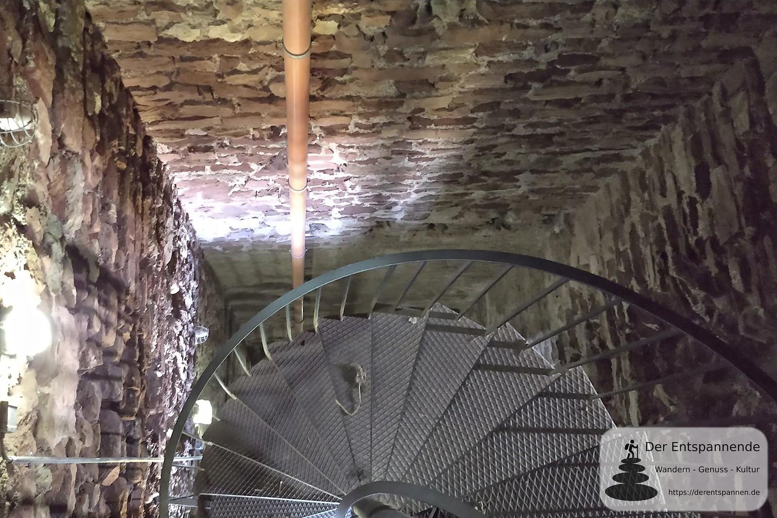 Im Bergfried Burgruine Schwabsburg