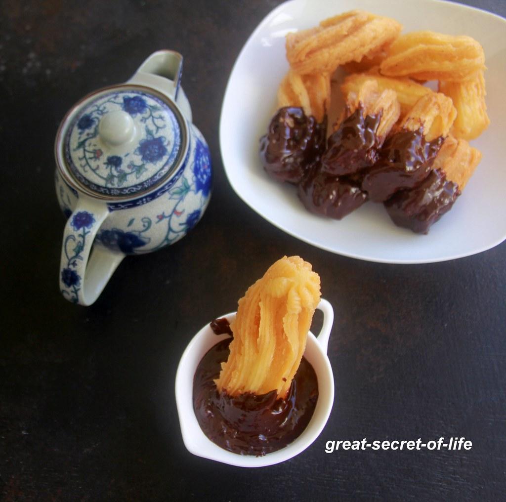 Churros - How to make eggless churros - How to make eggfree churros - kids snack recipe
