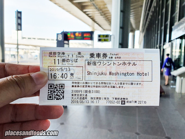 narita airport bus to tokyo 3000 yen